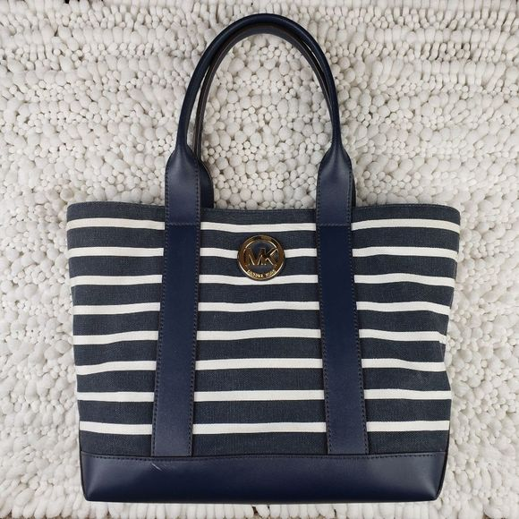 Michael Kors Handbags - Michael Kors Fulton Striped Canvas Medium Tote